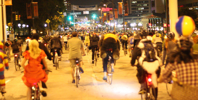 "Baltimore Monthly ""Bike Party"" from Bmore Bikes"