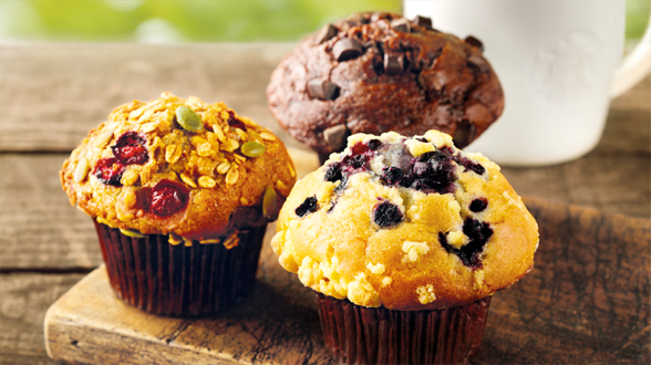 Fresh Muffins catered by UB Catering