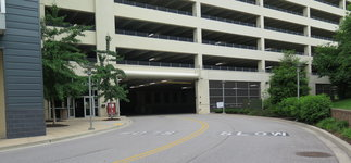 At the University of Baltimore, the fitzgerald parking garage