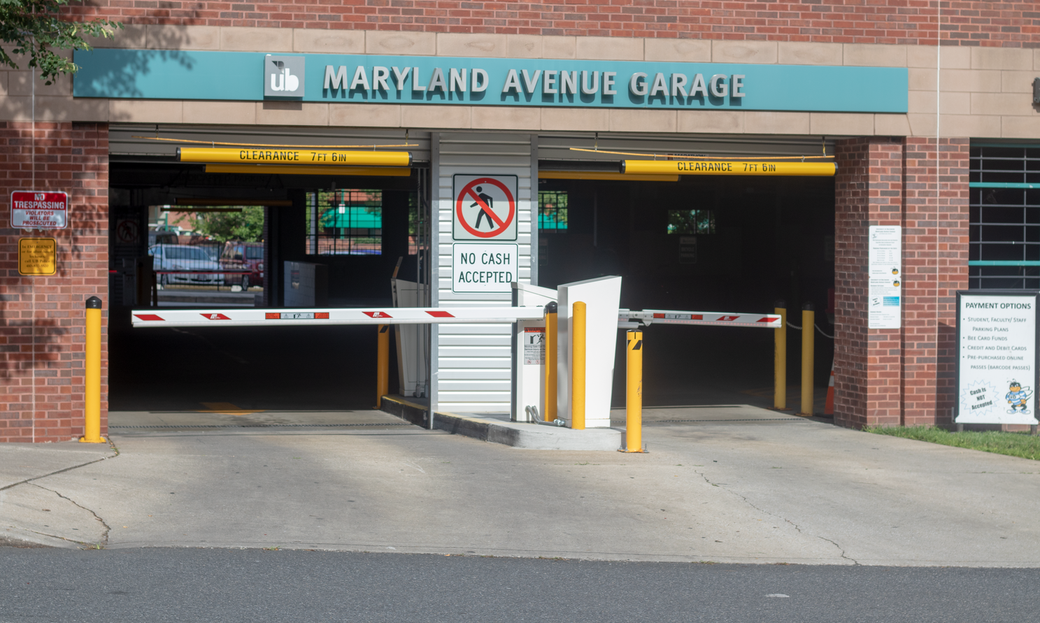 Front Entrance of the Maryland Avenue Garage