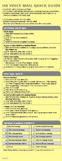 front of voicemail quick guide