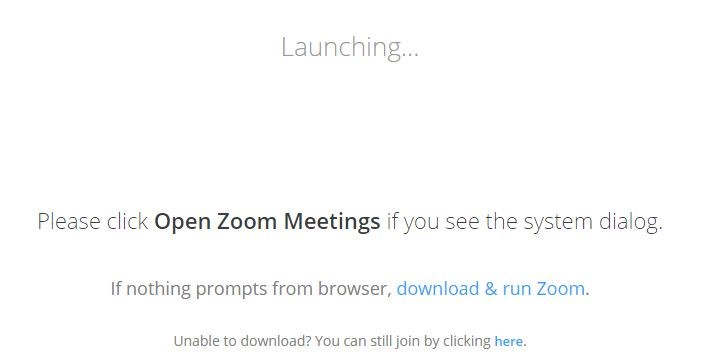 Launching Zoom