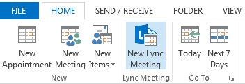 New Lync meeting
