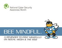 bee mindful postercard front