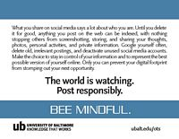 bee mindful postercard back