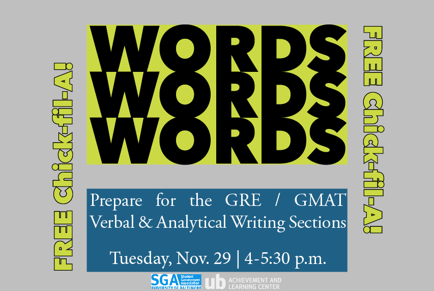 Words, Words, Words: GRE/GMAT Prep for Verbal & Analytical Writing Sections