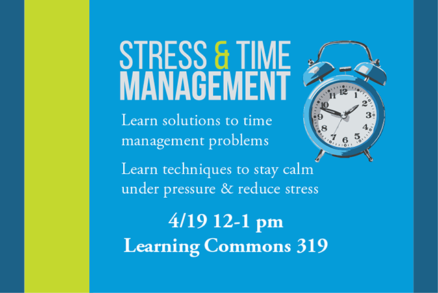 How to Manage Your Time and Stress Workshop