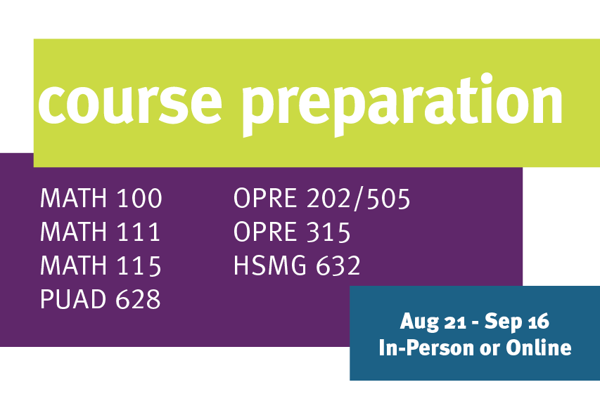 Course Preparation for OPRE 202 and OPRE 505