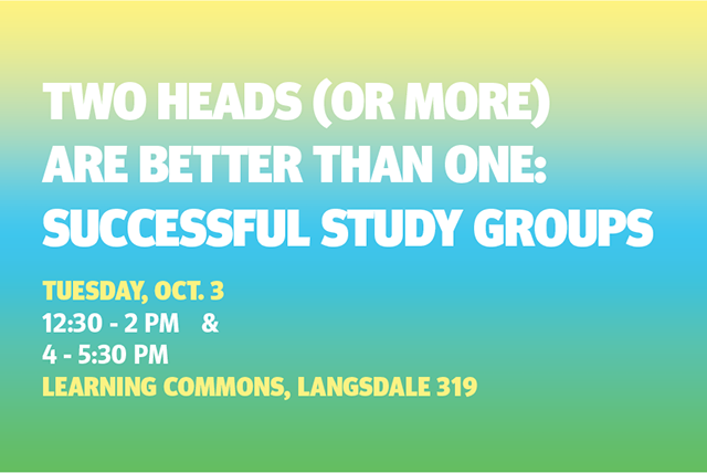 Two Heads (or More) are Better than One: Successful Study Groups