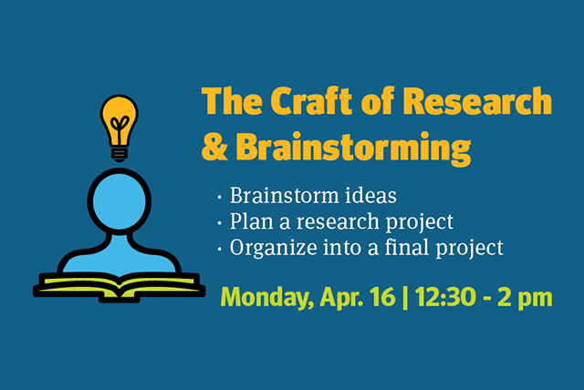 The Craft of Research and Brainstorming