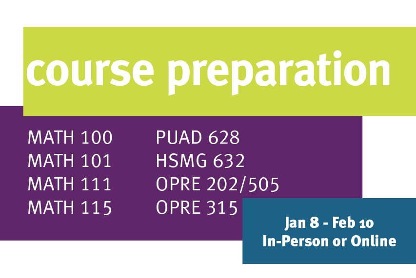 Course Preparation for OPRE 315