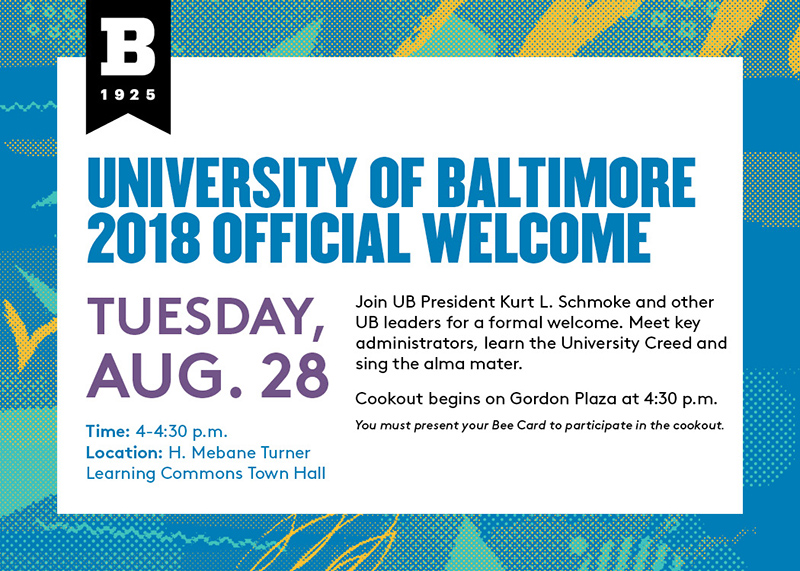 2018 UB Official Welcome