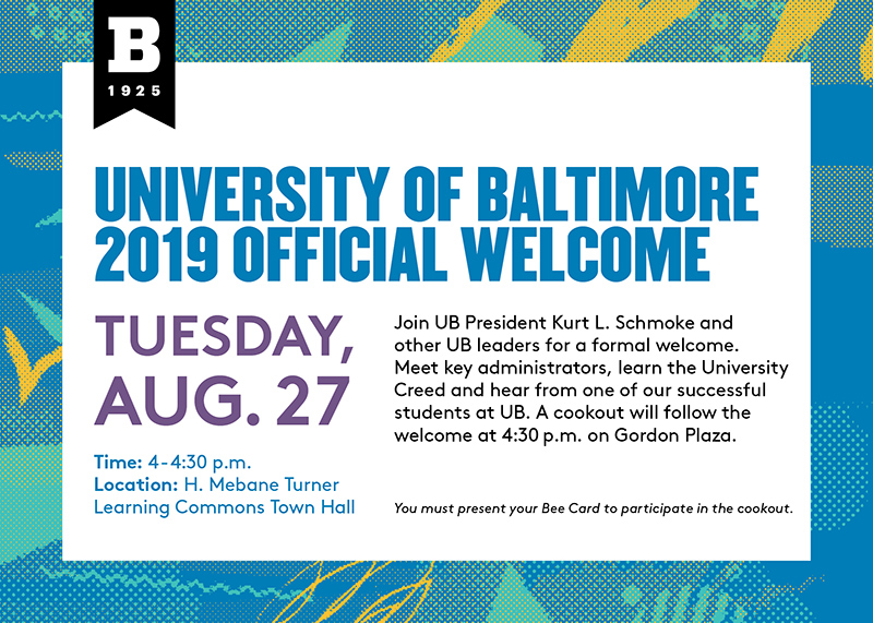 2019 UB Official Welcome