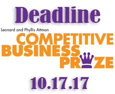 Deadline: Submit Application for Leonard and Phyllis Attman Competitive Business Prize