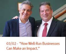 "Merrick Engages Series -""How Well-Run Businesses Can Make an Impact."""