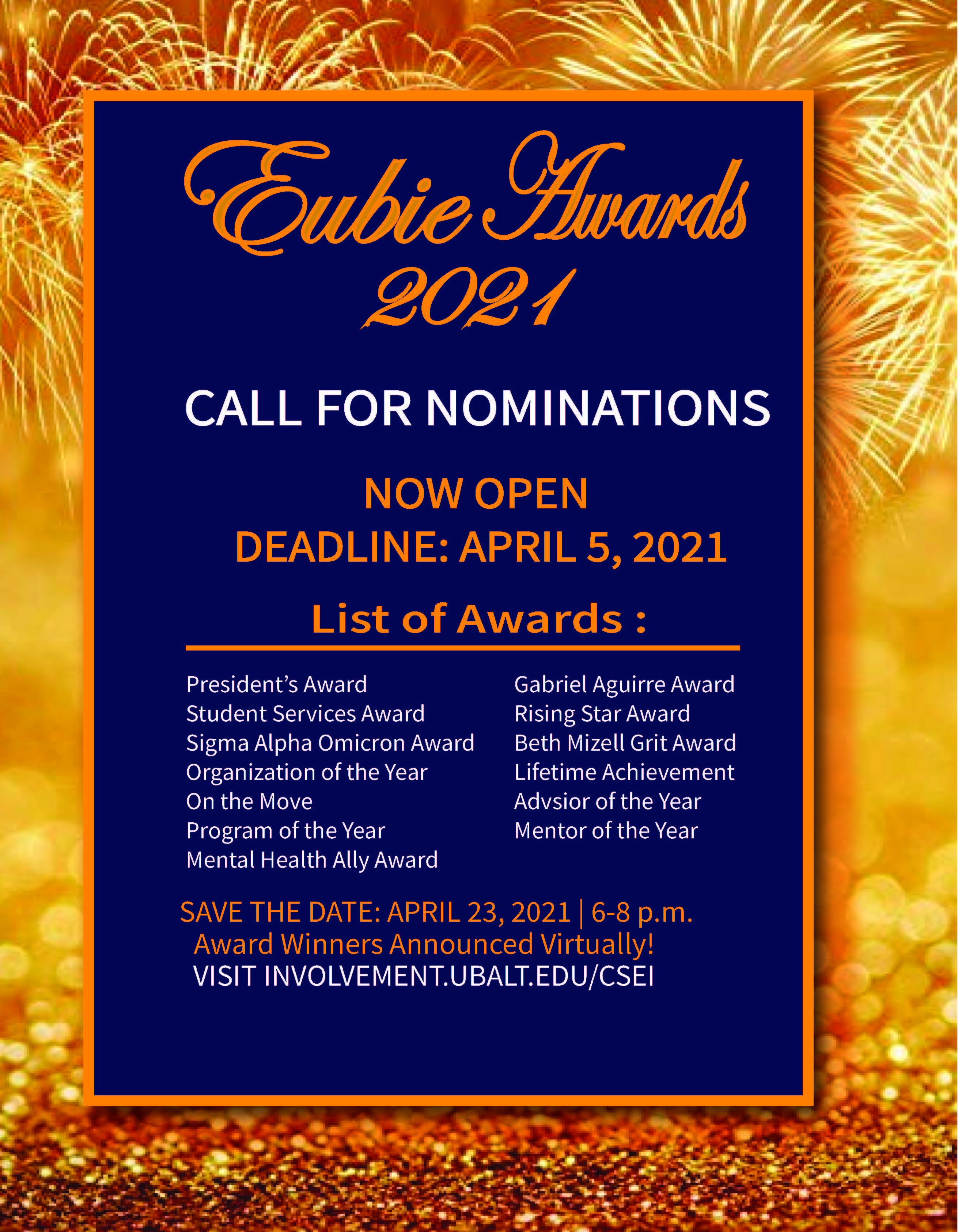 Eubie Awards Nominations Officially Open!