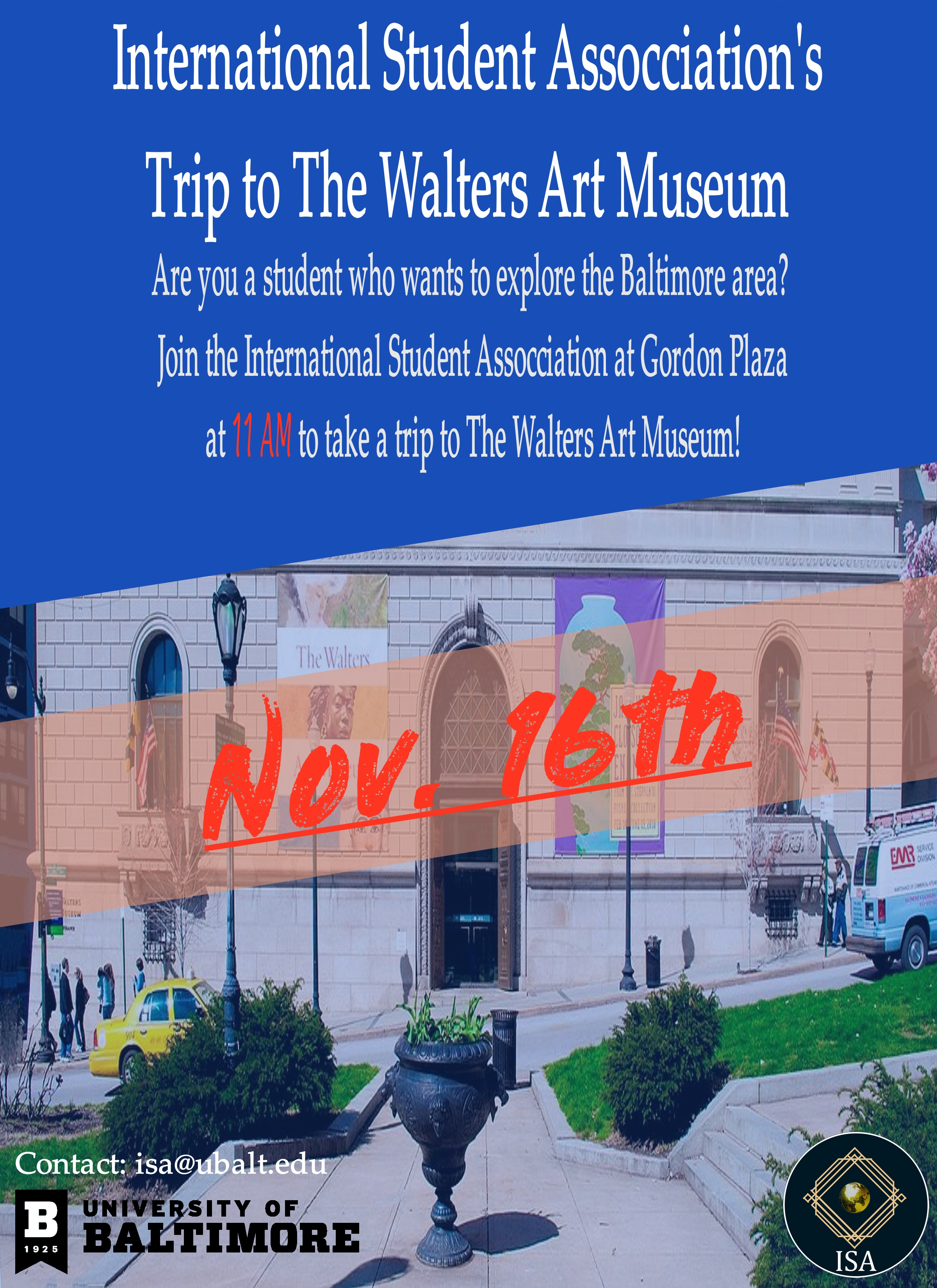 Trip tp the Walters Art Museum!