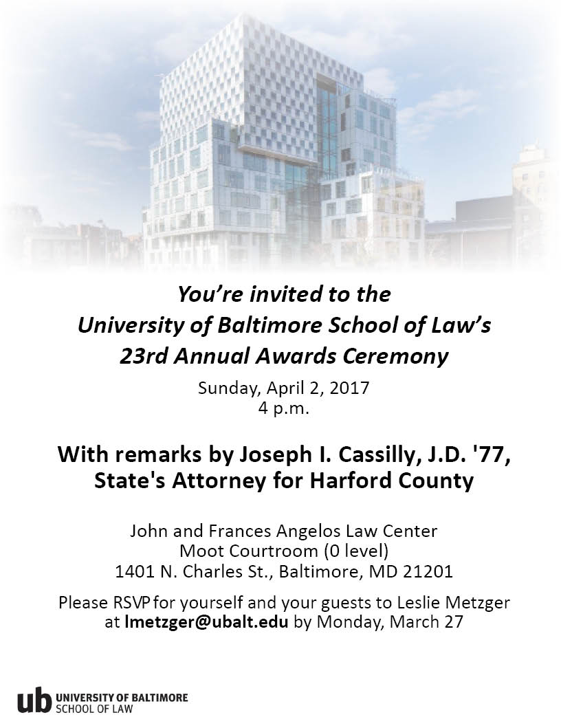 School of Law's 23rd Annual Awards Ceremony