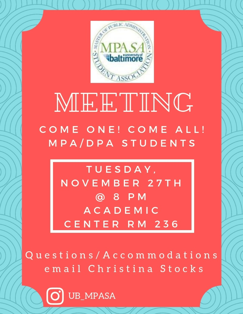 MPA Student Association Meeting