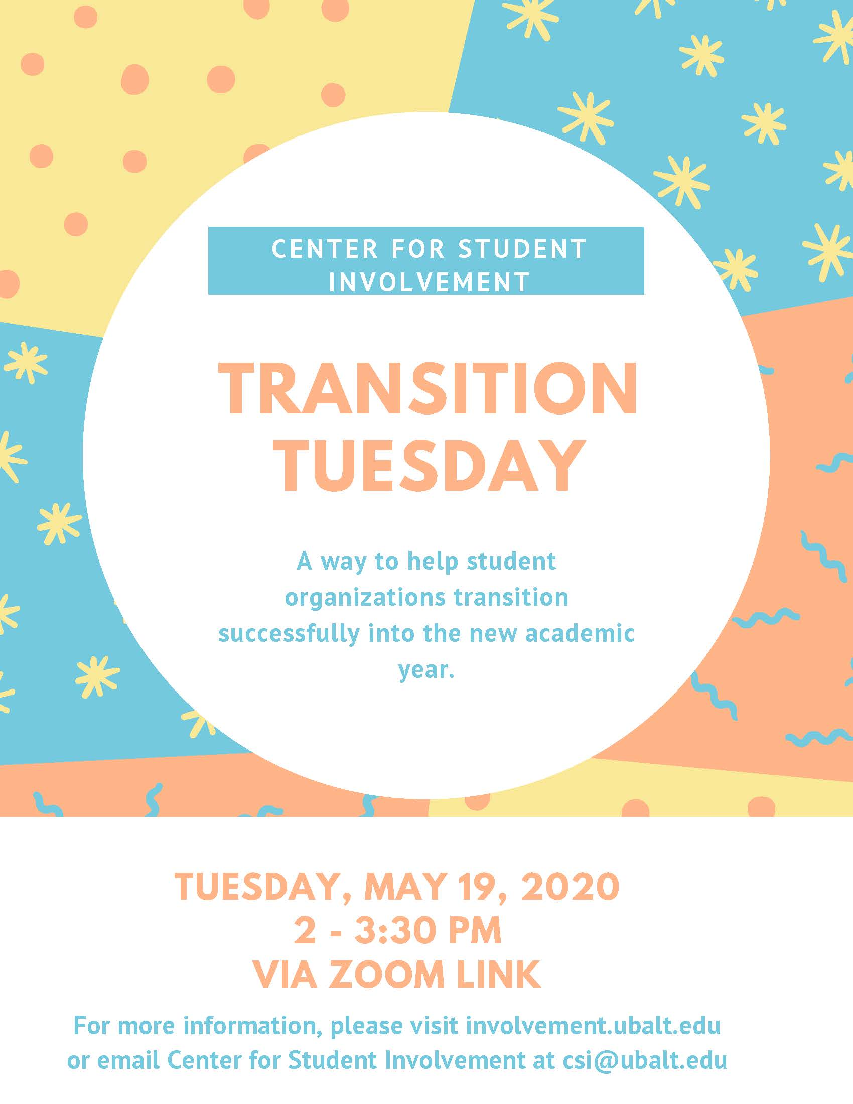 Student Organization Transition Tuesday