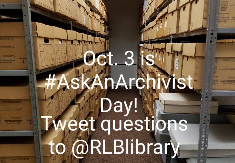 #AskAnArchivist Day @RLBLibrary