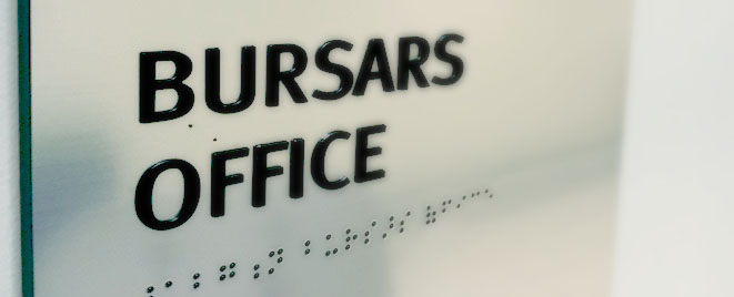 UB Bursars Office banner