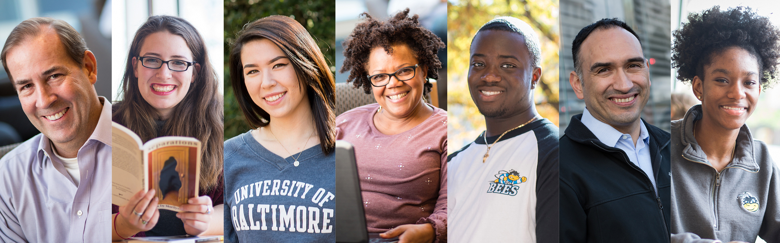 variety of University of baltimore students