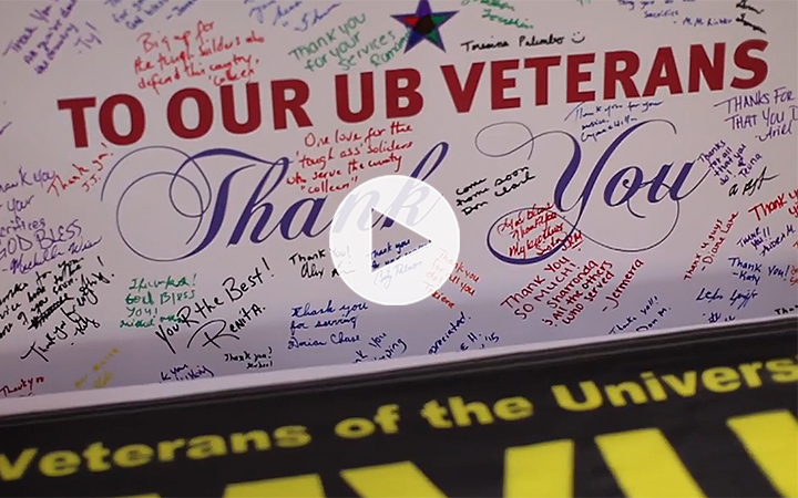 the ub community writes thank you messages to veterans