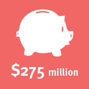 $275 million