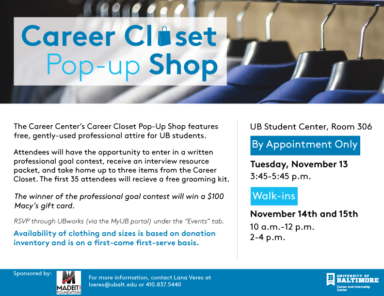 Career Closet Flyer
