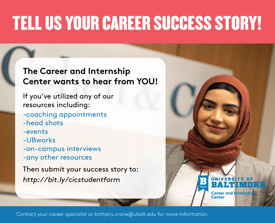 Tell Us Your Career Success Story