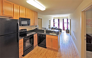 gourmet kitchen inside the Varsity housing