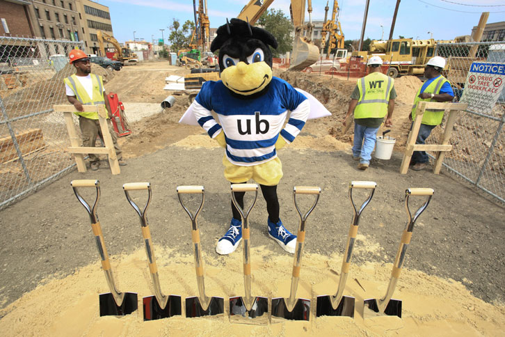 Eubie showed up for the Aug. 26, 2010 groundbreaking for the John and Frances Angelos Law Center.