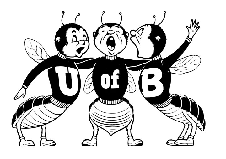 "The Bees offer a rousing chorus (no doubt the ""UB Alma Mater"") in the pages of the 1961 Reporter."