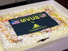 Military Veterans of the University of Baltimore cake