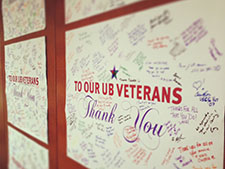 "Students, faculty, and staff say ""thank you"" to UB veterans."