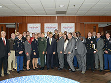 Lt. Governor Anthony G. Brown (center) with UB veterans and their supporters.