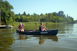 paddling at the Smithsonian Environmental Research Center