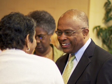 Kurt Schmoke meets UB faculty, staff and students