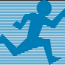 accelarated programs icon of a person sprinting