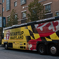 It's the Startup Maryland Bus, coming to UB!