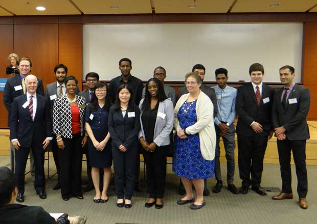 Students Inducted into Beta Alpha Psi, 2016 Ceremony