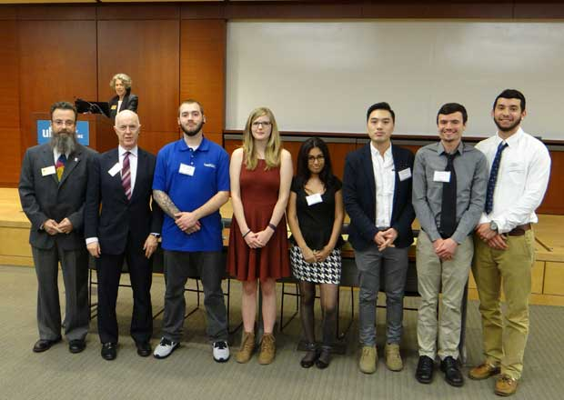 Students Inducted into Mu Kappa Tau, 2016 Ceremony