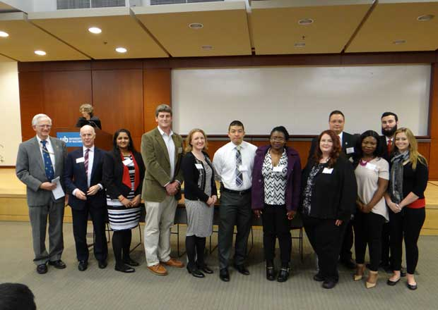 Students Inducted into Sigma Iota Epsilon, 2016 Ceremony