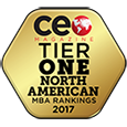 CEO Magazine 2017 North America MBA Ranking Award Badge