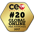 CEO Magazine 2017 Online MBA Ranking Award Badge