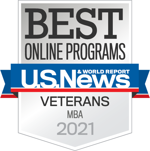 U.S. News Best Online MBA for Veterans logos