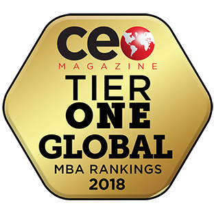 CEO Magazine badge for 2018 First Tier MBA