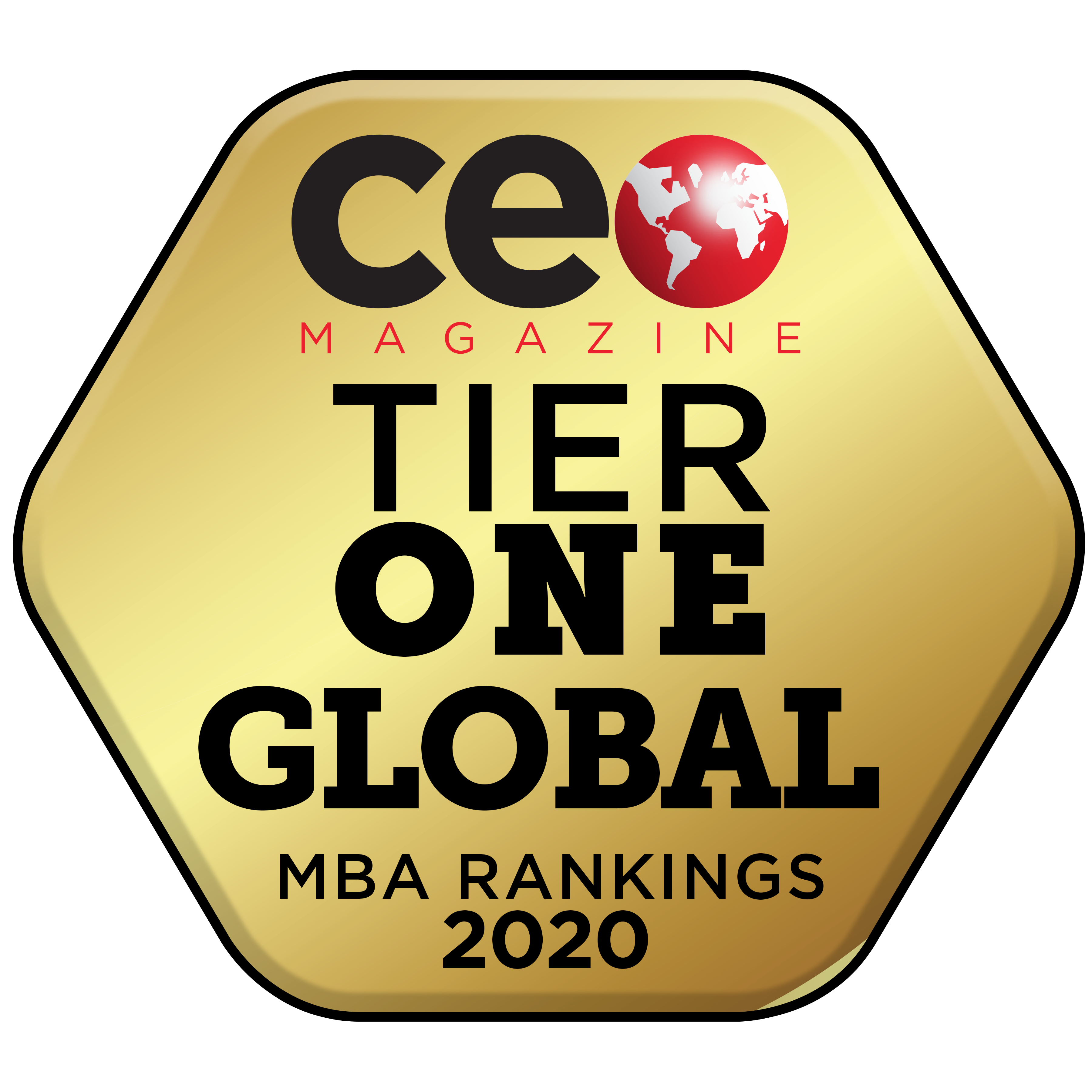 CEO Magazine Tier One badge