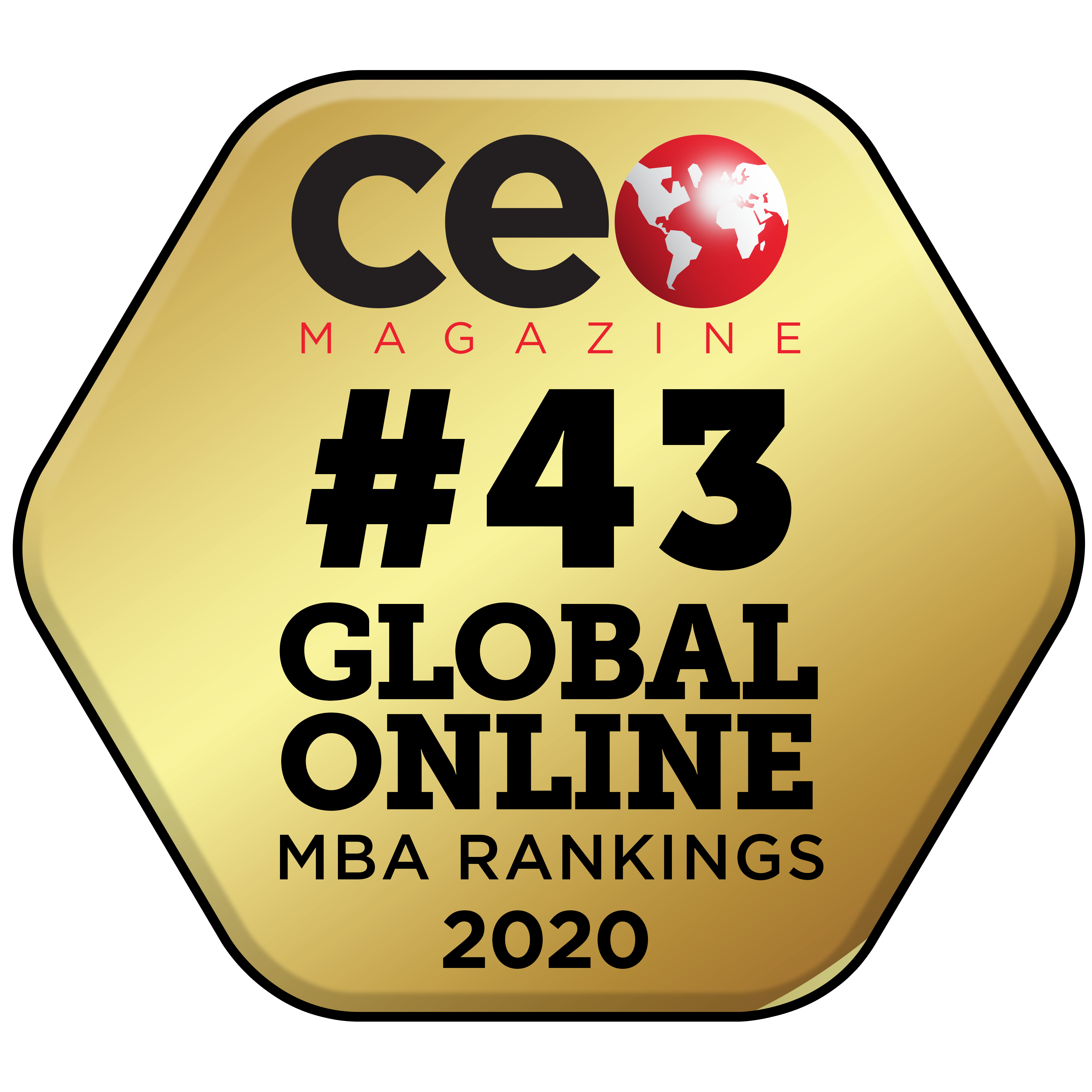 CEO Magazine 43 ranked